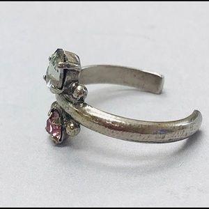 Sorrelli Jewelry - Sorrelli Pink & Grey Crystal Dainty Ring, NWT